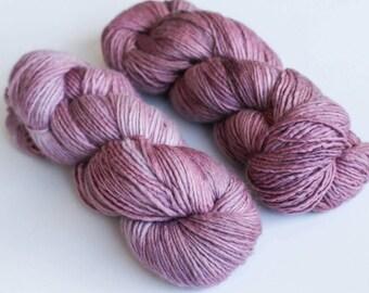 100% Merino Wool Single Ply Worsted Weight Tonal Hand Dyed Yarn in *PURPLE SAGE *
