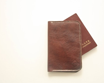 leather passport holder - passport cover - passport holder -passport wallet - leather wallet - leather cover - leather passport case