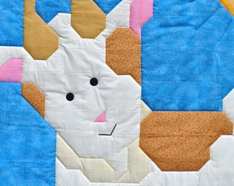 Billy Goat Baby Quilt pattern as PDF