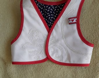 Sweet little vest for sweet little girl, cotton fabric
