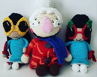 Crochet Ribbon Sisters and Scarf Lady