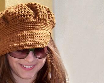 Crochet Pattern Hat, Crochet Newsboy Hat Pattern, Crochet Hat Pattern Crochet Hat Women, Newsboy Cap Easy Crochet Pattern Summer Hat Pattern