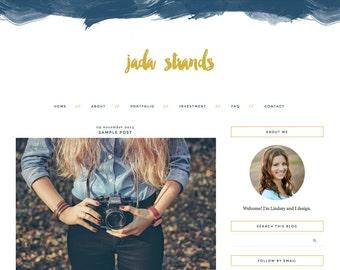 "Blogger Template, Blog Template, Mobile Responsive - ""Jada | by Lindsey"" Instant Digital Download"