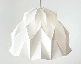 RUFFLE: Origami Polypropylene Lamp Shade - White / FiberStore by Fiber Lab