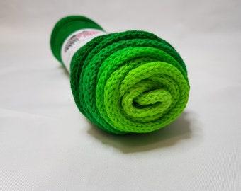 Hand dyed SW Merino / Nylon yarn, Sock weight, 4-ply, 100g, LIME PIE, gradient, sock blank