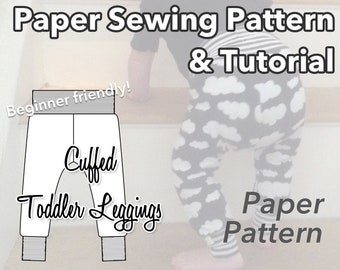 Baby Toddler Leggings Paper Sewing Pattern, Paper Pattern, Sewing Pattern, Baby Leggings, Baby Sewing
