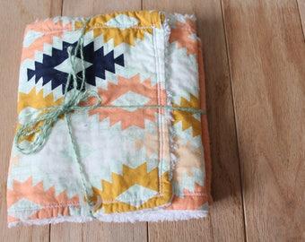 Burpee | Burp cloth | Chenille | Wash cloth | Peach | Aztec