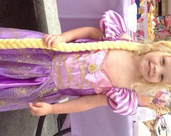 Rapunzel Braid, Rapunzel Costume, Tangled Costume, Rapunzel Party, Rapunzel Dress Up, Princess Dress Up, Rapunzel Wig