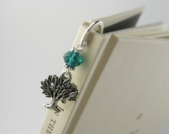 Tree Bookmark - Nature Jewelry - Tree of Life - Unique Bookmarks - Nature Beads - Tree of Life Charm - Nature Lover Gift For Him Her