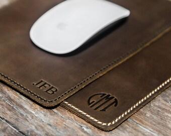 JooJoobs, Leather Mouse Pad, Mouse Pad, Leather mousepad, Monogram Mousepad, Personalize mousepad