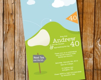 Par-Tee Golf Birthday Invitation - 30th 40th 50th 60th birthday invitation - Instant Download and Edit with Adobe Reader - Print at Home