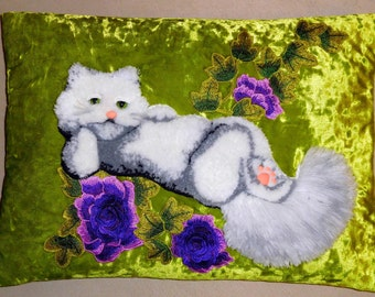 "A decorative plush pillow ""Cat Alice"""