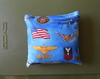 Navy Corn hole Bags