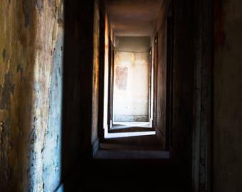 Empty Hallway, Fine Art Urban Photograph For Wall Decor