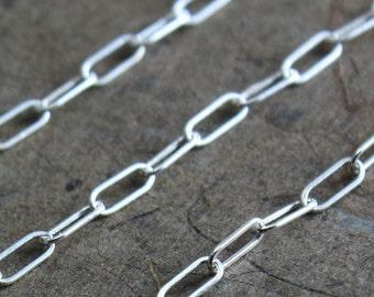 Bulk Sterling Chain - Drawn Rectangle Link Chain 5mm x 2mm - SAVE 5 - 10% on Bulk Lengths