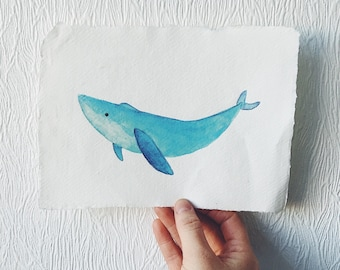 A5 Heat press dolphin print on canvas paper