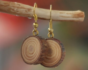 wooden earrings • handmade wooden earrings