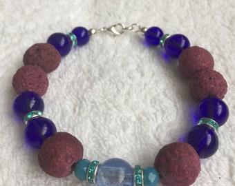 Anti depressant bracelets lava and glass