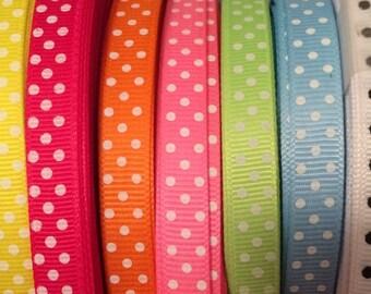 "3/8"" Dots Grosgrain Ribbon"