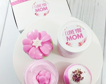 Mother's Day. Mother's Day Gift. gift for women. ROSE bath gift set. gifts for her personalized gifts for her gifts for mom. mother gift spa