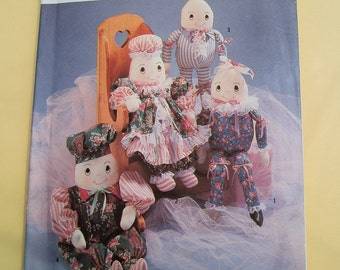 Simplicity 7311 Crafts Sewing Pattern  Stuffed Egghead Dolls and Clothes by Faith Van Zanten