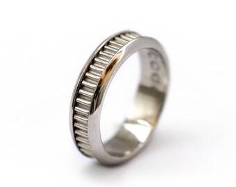 Unique Men's Wedding Band, sterling silver Mens Wedding Band, Alternative wedding band for men, Sterling silver wedding band, promise rings
