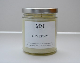 GIVERNY // 9oz // natural soy candle // hand-poured // small batch