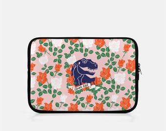 Dinosaur iPad Sleeve, iPad Mini Sleeve, Clever Girl iPad Sleeve, Pink iPad Sleeve, iPad Cover, eReader, Kindle Sleeve, Dinosaur Tablet,