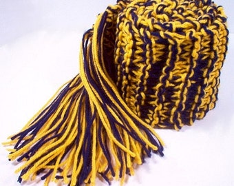 Scarf Navy Blue and Sunflower Gold team scarf