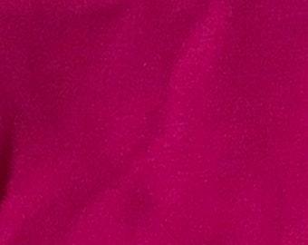Magenta - 10oz cotton/lycra knit fabric - 95/5 cotton/spandex jersey knit - By The Yard