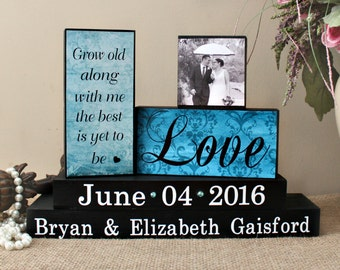 Grow Old Along With Me The Best Is Yet To Be Sign,  Anniversary Gift, Wedding Wooden Sign, Bride to Groom Gift, Fiance Gift, Wedding Decor