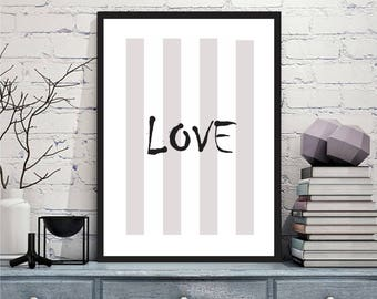 Printable art Digital Prints Wall art home decor Love printable art, printable prints