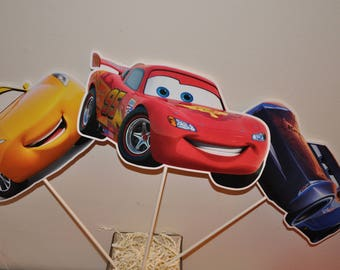 Cars 2 Large Centerpiece toppers sets of 6
