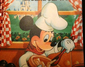 "Disney World Cookbook ""Cooking with Mickey Around Our World"" -Vintage cookbook Circa 1986-Disneyana Collectible Book"