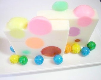 Bubble Gum Soap,  Soap for Children, Rainbow Soap, Goats Milk Soap,  Kids Party Favor Soap, Childrens Soap, Novelty Soap