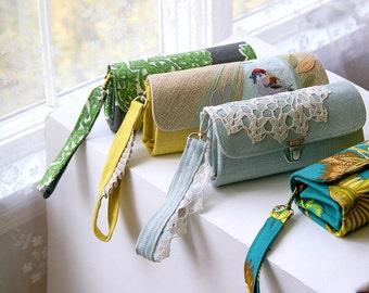 Armband für Ihren Geldbeutel - Damen Geldbörse/Brieftasche/handgemachte Brieftasche/Frau Brieftaschen/Stofftaschen und Geldbörsen/Brieftaschen für Frauen/Armband mit Rüschen