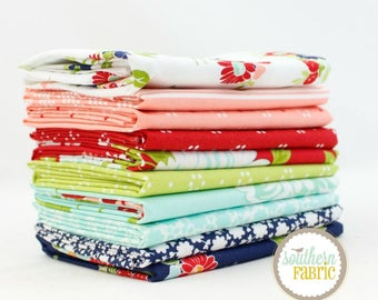 "The Good life - Fat Quarter  Bundle - 10 - 18""x21"" Cuts - Bonnie and Camille - Moda Quilt Fabric"