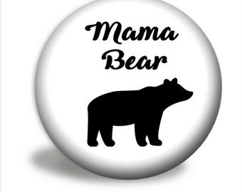 Mama Bear Pocket Mirror, Pocket Mirror Favors - Choose Your Color