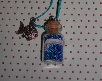 All aboard A vial necklace