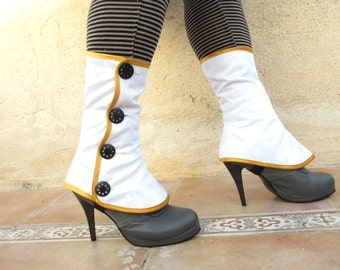 Medium spats waterproof with buttons victorian steampunk Gaiters spat bootcover