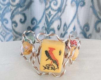 Vintage Mahjong Bracelet