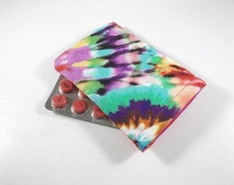 Tie Dye Birth Control Pill Case, Birth Control Pill Sleeve, Birth Control Pill Holder