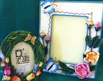 Frames for SPRING, One is Tin, the Other is Resin, Both for One Price