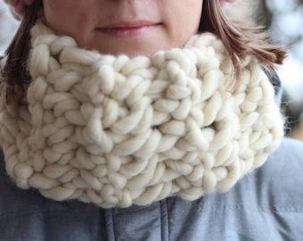 50% SALE Merino wool chunky snood, big scarf, extra large collar, knitted collar