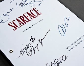 Scarface Film Movie Script with Signatures / Autographs Reprint Unique Gift  Screenplay Present TV Fan Geek Mafia Mobster 80s 90s