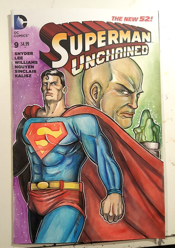 Superman Original Art Sketch Cover - Superman Unchained Number 9
