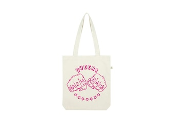 Queers Bash Back Tote Bag  / Cotton Tote / Cotton Bag / Hand-printed Tote / Screen-printed Tote / Organic Cotton / Fair Trade Cotton