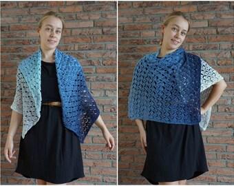 Breezeblocks Shawl PDF crochet pattern