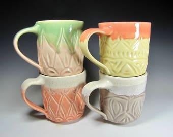 pottery mug coffee cup mug handmade pottery mug ceramic mugs tea dinnerwares dishes