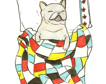 French Bulldog Dog Wall Art, Frenchie Art Gift, French Bulldog Lover Gift For Her, Frenchie Wall Art, Dog Lover Gifts For Men, Art Under 20